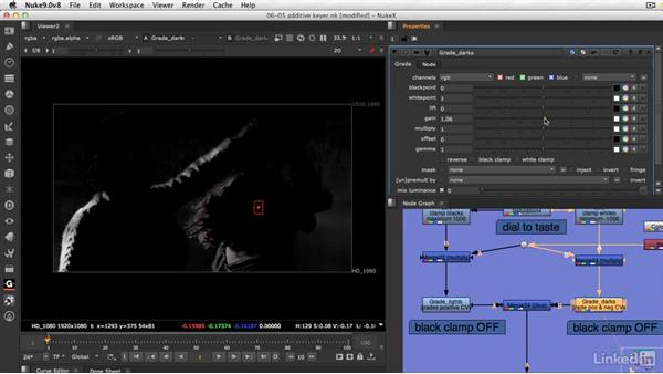 Adding edge detail with an additive keyer: VFX Keying: Master Course