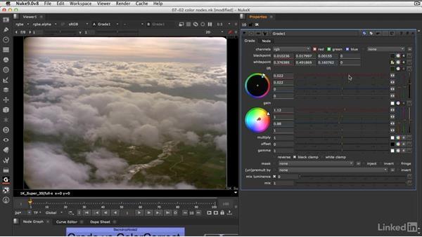 The Grade node vs. the ColorCorrect node: VFX Keying: Master Course