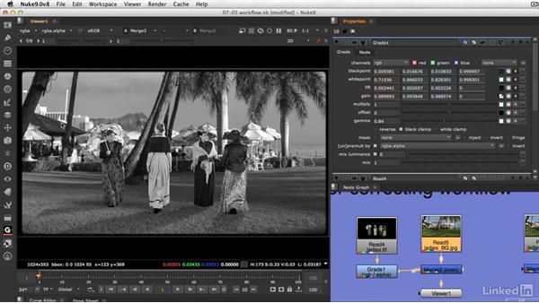 Color match keyed layers workflow: VFX Keying: Master Course