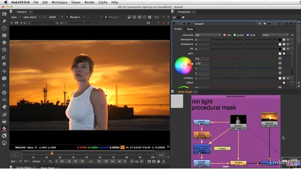 Adding interactive lighting: VFX Keying: Master Course