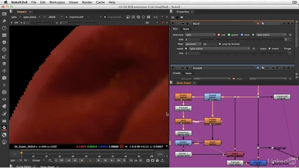 Replacing discolored edges: Practice: VFX Keying: Master Course