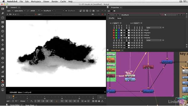 How to key a cloud out of the sky: VFX Keying: Master Course