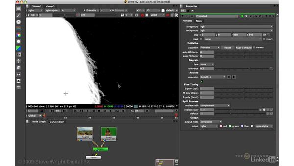 Primatte: Matte refinement and edge detail: VFX Keying: Master Course