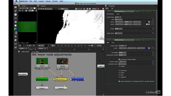 IBK keyer: Keying and compositing: VFX Keying: Master Course