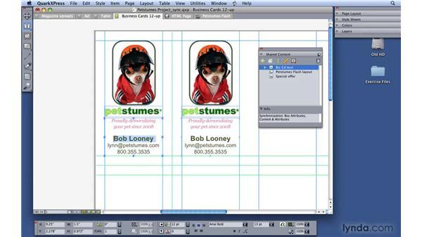Synchronizing items: QuarkXPress 8 Essential Training