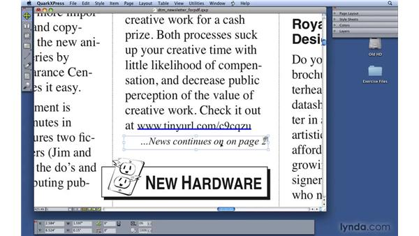 Building hyperlinks in interactive PDFs: QuarkXPress 8 Essential Training
