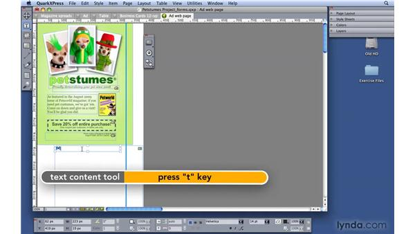 Creating a form for HTML: QuarkXPress 8 Essential Training
