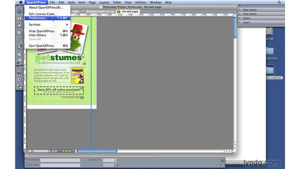 Exporting and importing as HTML: QuarkXPress 8 Essential Training