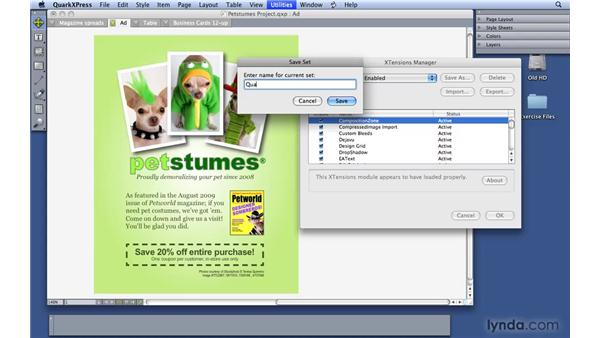 Working with XTensions: QuarkXPress 8 Essential Training