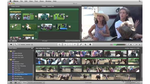 Skimming your video: iMovie '09 Essential Training