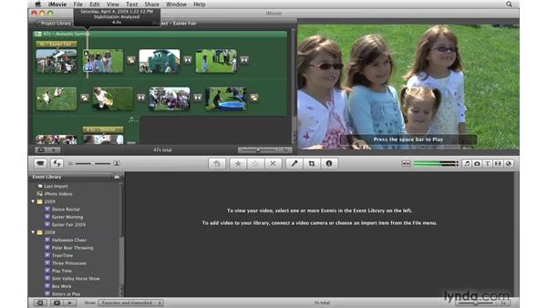 Merging and splitting events: iMovie '09 Essential Training