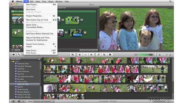 Adjusting the date and time of your events: iMovie '09 Essential Training