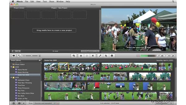 Marking favorites and rejecting video: iMovie '09 Essential Training