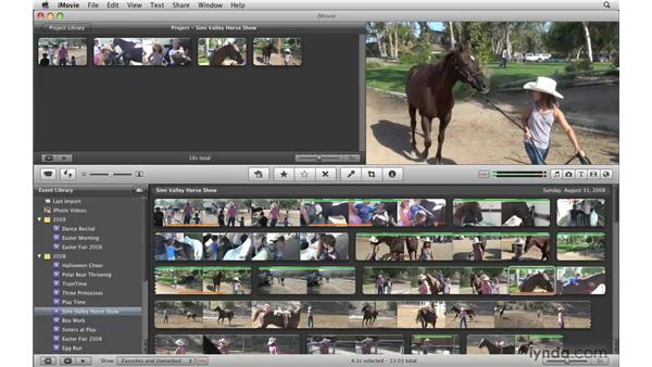 Adding selections to your project: iMovie '09 Essential Training