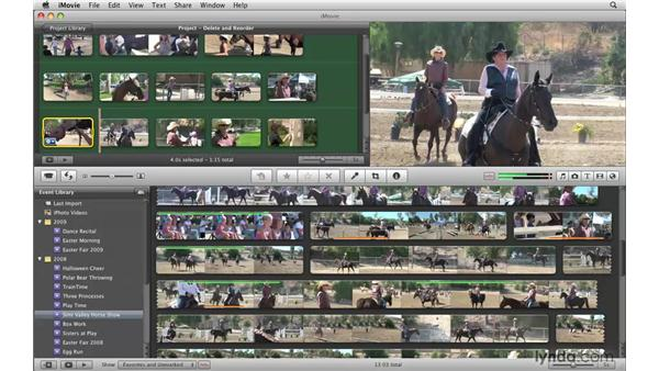 Rearranging and deleting clips: iMovie '09 Essential Training