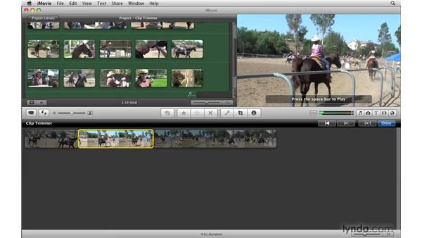 Using the Clip Trimmer: iMovie '09 Essential Training
