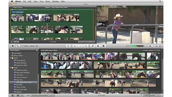 Playing back your project: iMovie '09 Essential Training