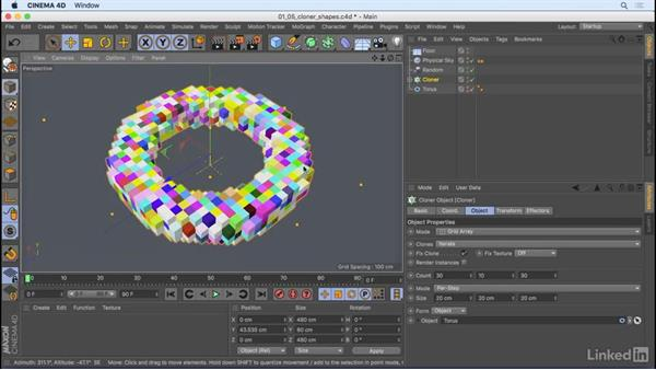 Cloner improvements: CINEMA 4D R18: New Features