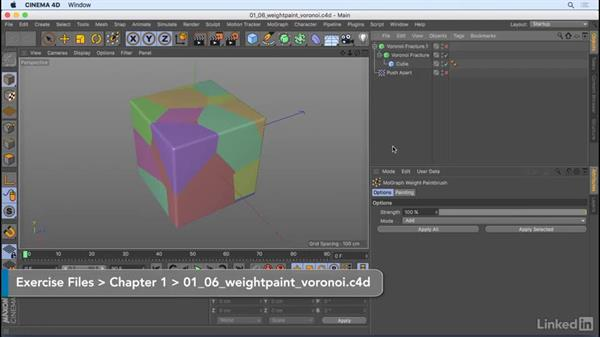 Weight painting: CINEMA 4D R18: New Features