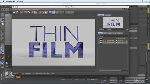Thin Film shader: CINEMA 4D R18: New Features