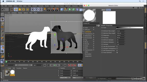 Inverse in the Ambient Occlusion shader: CINEMA 4D R18: New Features