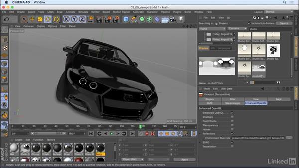 Viewport improvements: CINEMA 4D R18: New Features