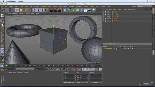 Get to know the interface: CINEMA 4D R18 Essential Training: The Basics