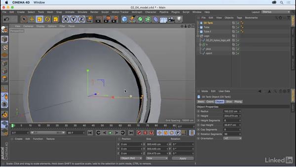 Model the logo: CINEMA 4D R18 Essential Training: The Basics