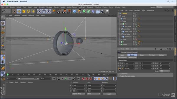 Animate the camera: CINEMA 4D R18 Essential Training: The Basics