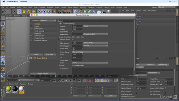 Render the project: CINEMA 4D R18 Essential Training: The Basics