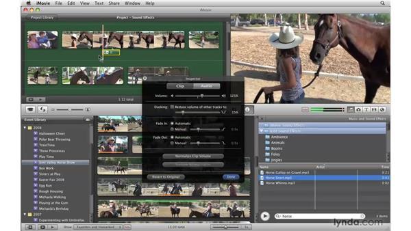 Adding sound effects: iMovie '09 Essential Training