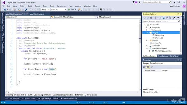 Content as an object in code: Microsoft XAML Fundamentals 2:  Content and Properties