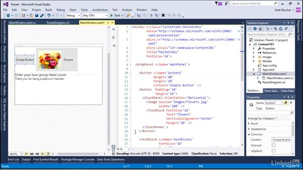 Visual content in panels: Microsoft XAML Fundamentals 2:  Content and Properties