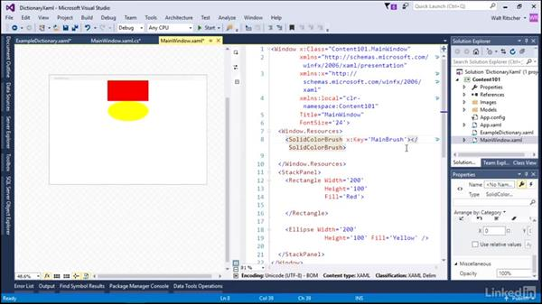 Content as a dictionary in XAML: Microsoft XAML Fundamentals 2:  Content and Properties