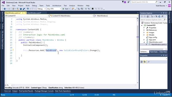 Content as a dictionary in code: Microsoft XAML Fundamentals 2:  Content and Properties