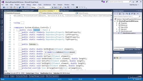 Attached properties with the canvas: Microsoft XAML Fundamentals 2:  Content and Properties