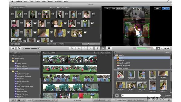 Making your photos move: iMovie '09 Essential Training