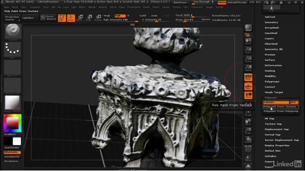 Projecting texture without projecting shape: ZBrush: Tips & Tricks