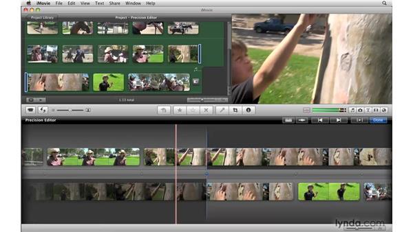 Using the Precision Editor: iMovie '09 Essential Training