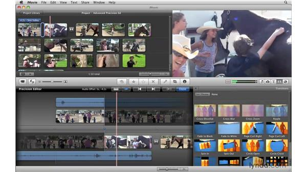 Advanced precision editing: iMovie '09 Essential Training