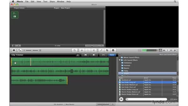 Adding beat markers to music: iMovie '09 Essential Training