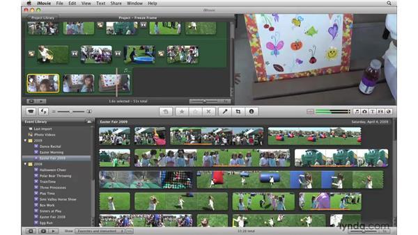 Adding a freeze frame: iMovie '09 Essential Training