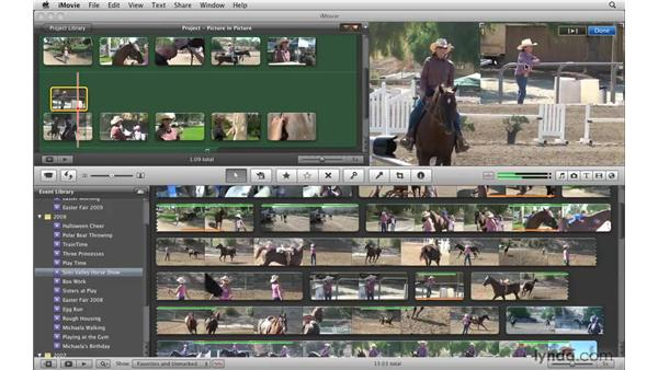 Creating picture-in-picture effects: iMovie '09 Essential Training