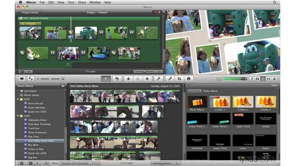 Working with individual theme components: iMovie '09 Essential Training