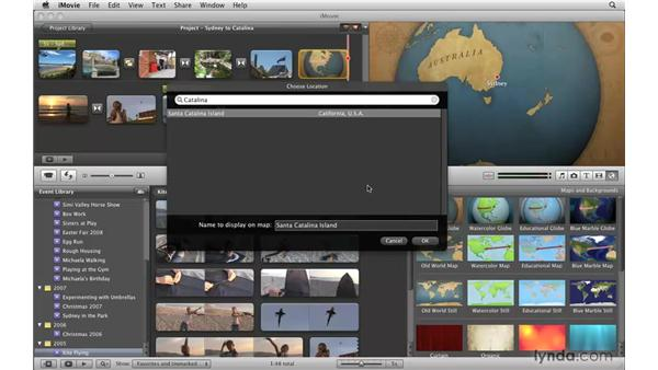 Applying and editing a map: iMovie '09 Essential Training