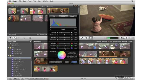 Enhancing photos with RGB controls: iMovie '09 Essential Training