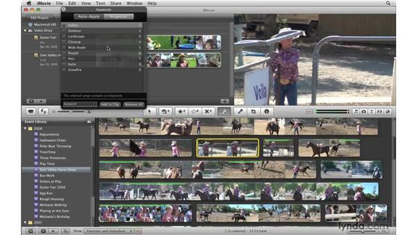 Understanding keywords: iMovie '09 Essential Training