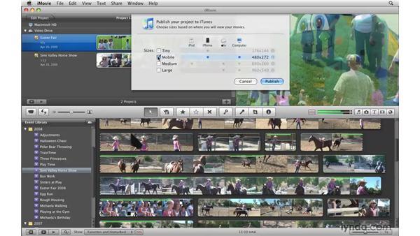 Publishing to iTunes: iMovie '09 Essential Training