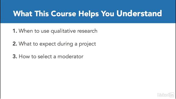 How to watch this course: Qualitative Marketing Research