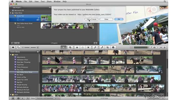 Publishing to your MobileMe Gallery: iMovie '09 Essential Training